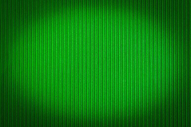Cor verde decorativa, textura listrada, gradiente de vinhetas.