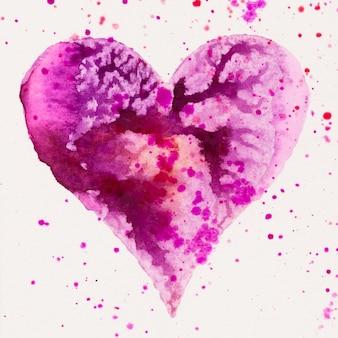 Coração aquarela