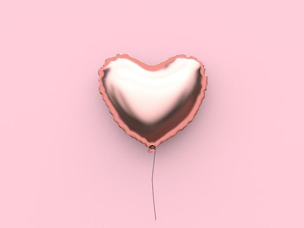 Coração balão valentine renderização em 3d