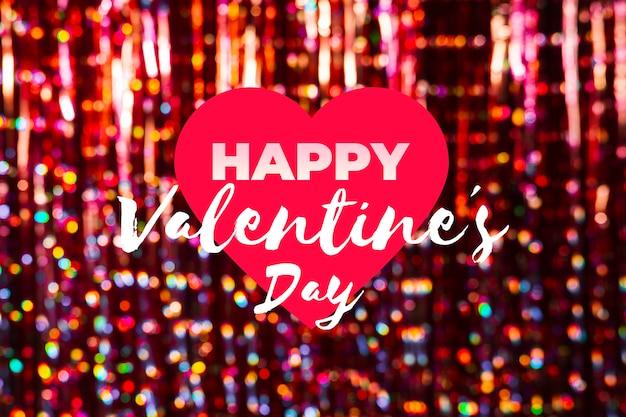 Coração com mensagem para dia dos namorados