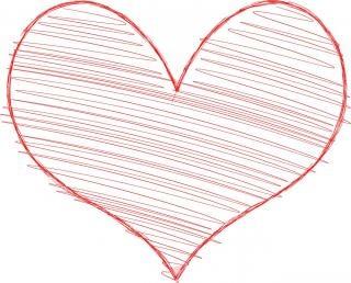 Coração com rabiscar preencher