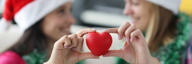 Coração de forma vermelha close-up.