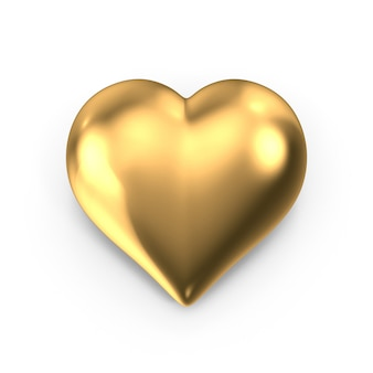 Coração de ouro para dia dos namorados