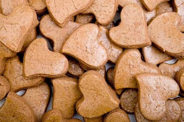 Coração de padaria fresco em forma