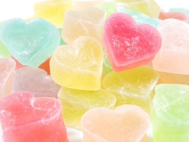Coração em forma de doces doces, querida
