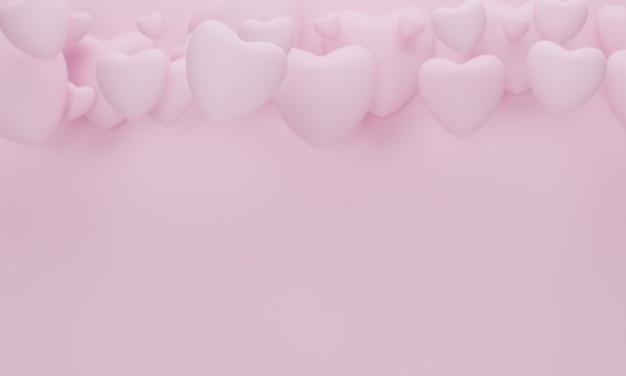 Coração em fundo rosa para mulheres felizes