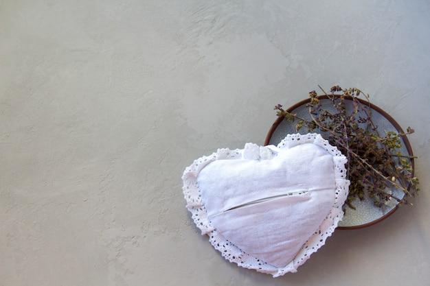 Coração macio na superfície de bloqueio