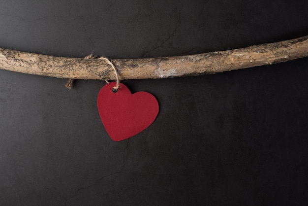 Coração pendurado nos galhos