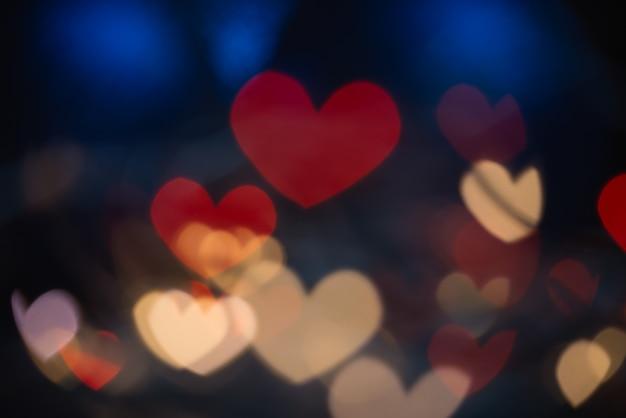 Coração vermelho boke