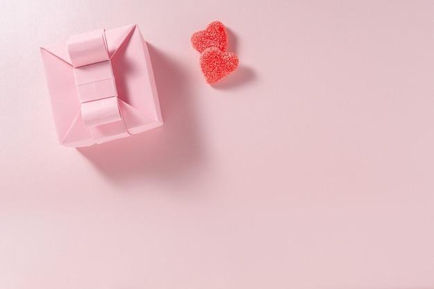 Corações caixa e doces