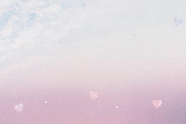 Corações cintilantes em gradiente