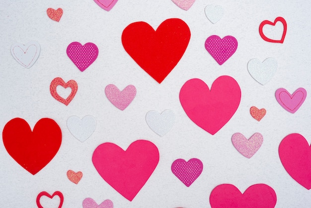 Corações coloridas lindas para bebê