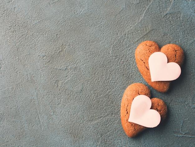 Corações de concretecookie texturizado preto