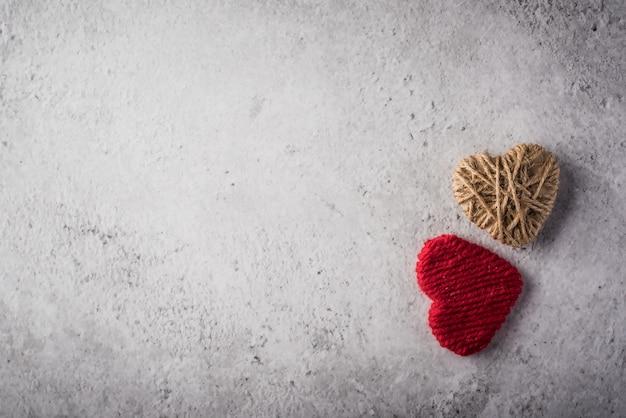 Corações de lã