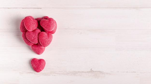 Corações em forma de coração