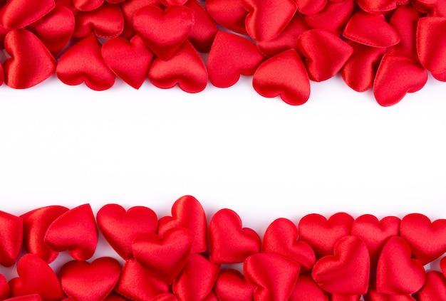 Corações vermelhos com espaço de cópia, plano de fundo dia dos namorados