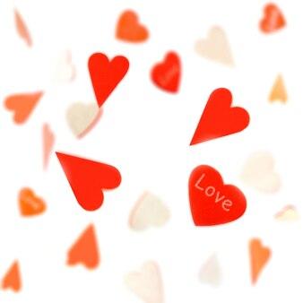 Corações voando giro no ar para o projeto dia dos namorados. fundo do dia dos namorados