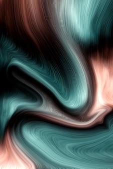 Coral de cor viva de luxo e fundo de cores de líquido do oceano profundo
