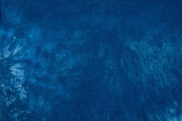 Corante azul em tecido de algodão