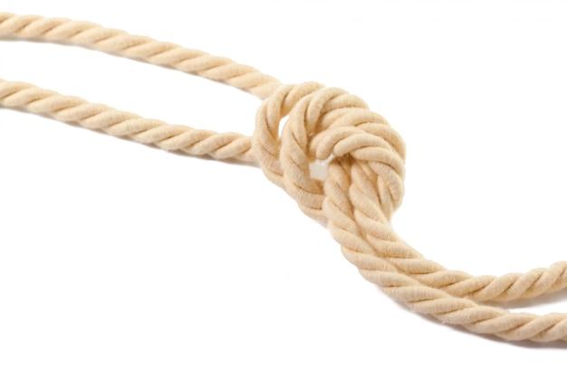 Corda bege de algodão
