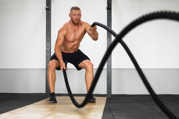 Corda de batalha de ginásio