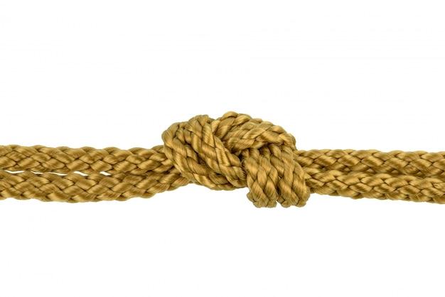 Corda de guita ou corda de juta com nó isolado
