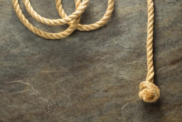 Corda de navio com textura de fundo antiga