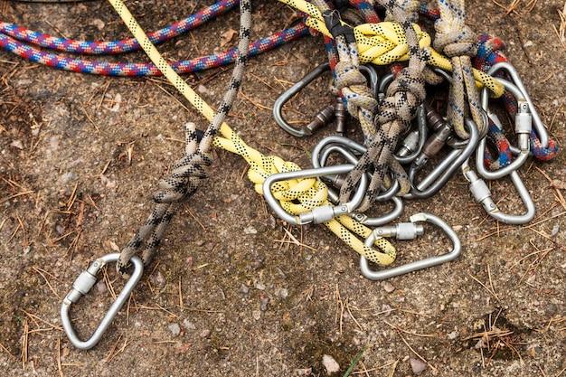 Cordas com carabinas