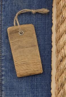 Cordas de navio em textura de jeans