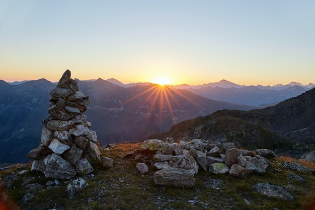 Cordilheira das montanhas do cáucaso arkhyz