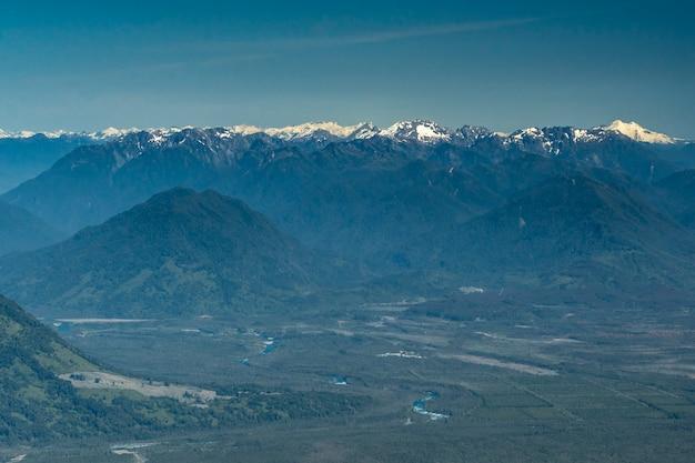 Cordilheira dos andes vista do vulcão osorno província de puerto varas llanquihue los lagos chile