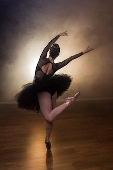 Coreografia de balé vista traseira