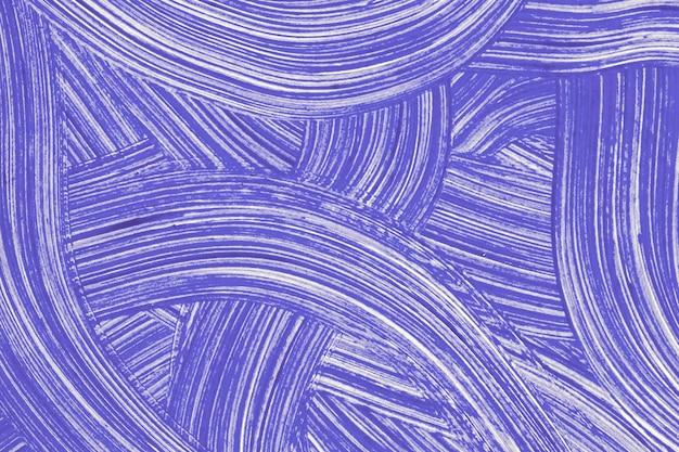 Cores azuis do fundo da arte abstrata. pintura em aquarela sobre tela com traços violetas e respingos. arte em acrílico sobre papel com padrão encaracolado em pincelada roxa. pano de fundo de textura.