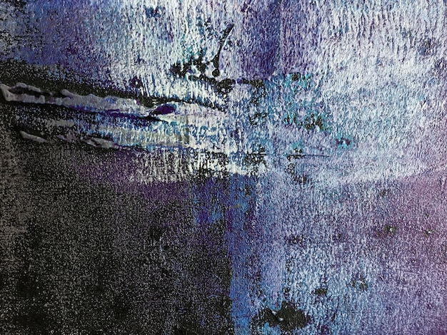 Cores azuis e pretas do fundo da arte abstrata. pintura em aquarela sobre tela com gradiente roxo