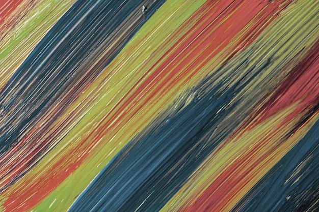 Cores azuis, verdes e vermelhas do fundo da arte abstrata. pintura em aquarela sobre tela com traços e respingos. arte em acrílico sobre papel com padrão pontilhado. pano de fundo de textura.