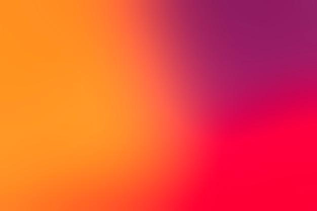 Cores brilhantes dispostas em gradiente