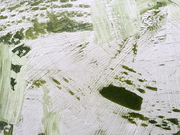 Cores claras de fundo verde e branco da arte abstrata. pintura em aquarela sobre tela com gradiente verde-oliva.