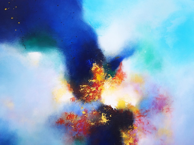 Cores coloridas abstratas da multi pintura de óleo.