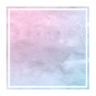 Cores de espaço mão desenhada aquarela textura de fundo de quadro retangular com manchas