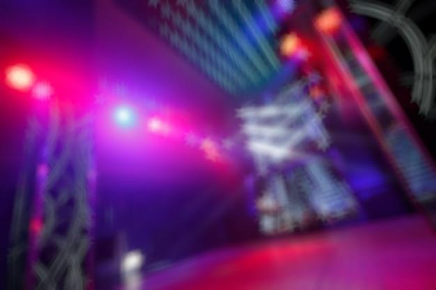 Cores desfocadas entrada do disco com luzes embutidas