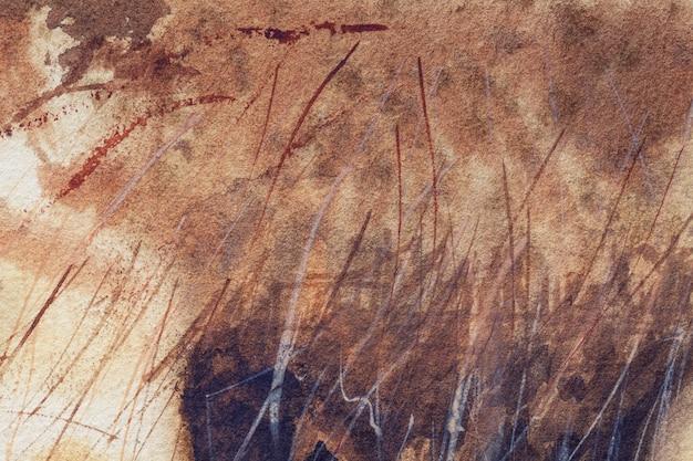 Cores do marrom escuro do fundo da arte abstrata.