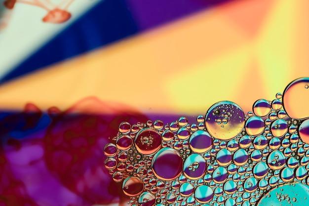 Cores do spotlight com bolhas