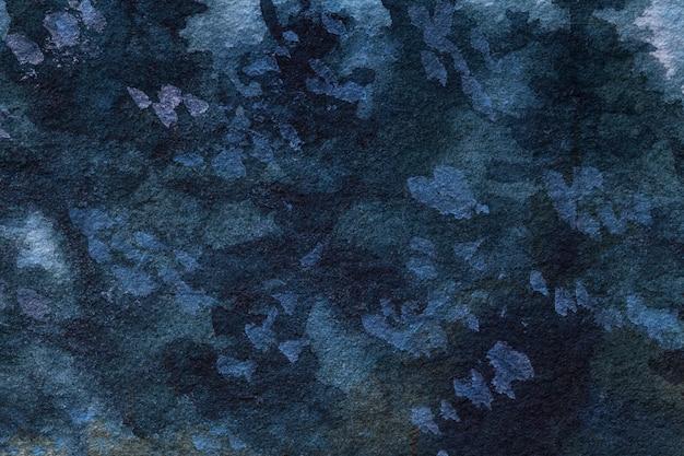 Cores dos azuis marinhos do fundo da arte abstrato. pintura em aquarela sobre tela.