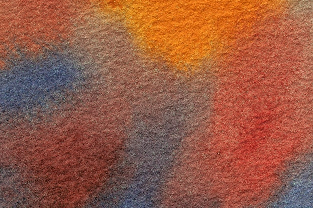 Cores dos azuis marinhos e vermelhos do fundo da arte abstrata. pintura em aquarela sobre tela.