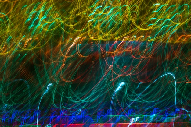 Cores frias iluminadas luzes de néon de fundo