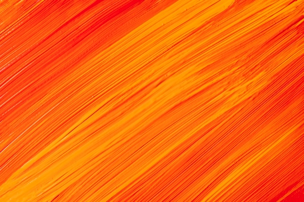 Cores laranja e vermelhas brilhantes do fundo da arte abstrata. pintura em aquarela sobre tela com pinceladas de gengibre e respingos. arte em acrílico sobre papel com padrão pontilhado de amarelo. pano de fundo de textura.