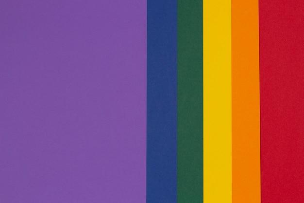 Cores lgbt papel fundo orgulho comunidade cores do arco-íris