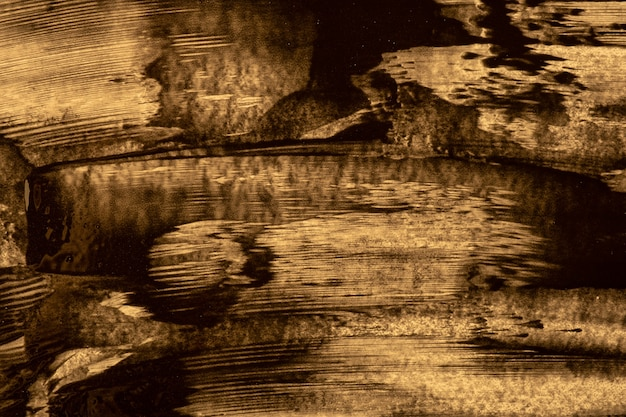 Cores marrons pretas e escuras do fundo da arte abstrata. pintura em aquarela sobre tela com traços e respingos. estuque antigo e parede de gesso.