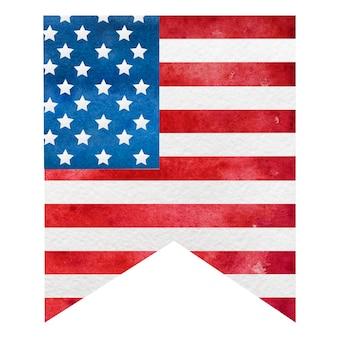 Cores nacionais da bandeira americana