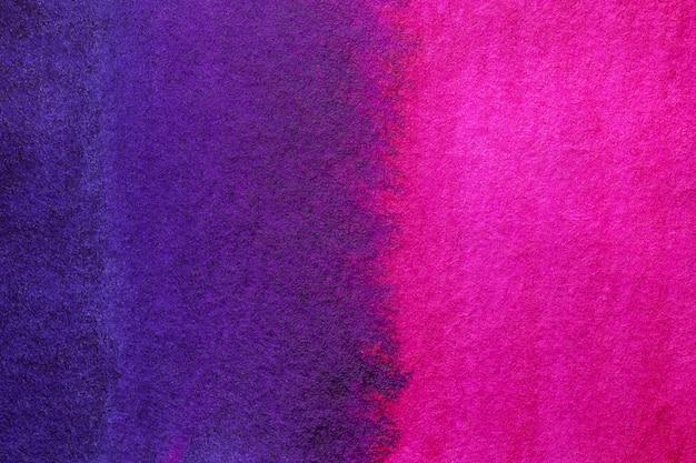 Cores roxas e azuis escuras do fundo da arte abstracta. pintura em aquarela sobre tela.